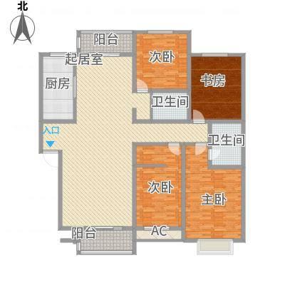 丽苑小区丽苑小区户型图桥华4室2厅4室户型4室-副本