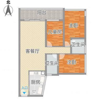 金地梅陇镇110平三室两厅