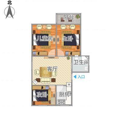 盛华园89.3三室一厅一厨一卫