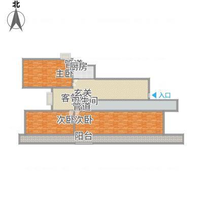 普兰银河花园9号楼标准层雅居户型3室2厅1卫1厨-副本