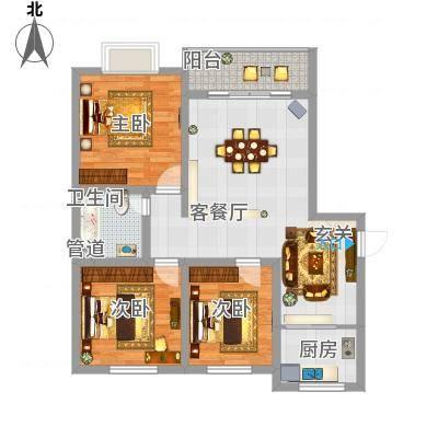 富雅锦园11.00㎡一期2号楼E户型-副本