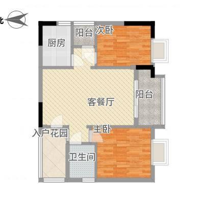 图2室2厅户型图