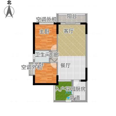 珠江怡景湾90.00㎡A面积9000m户型-副本