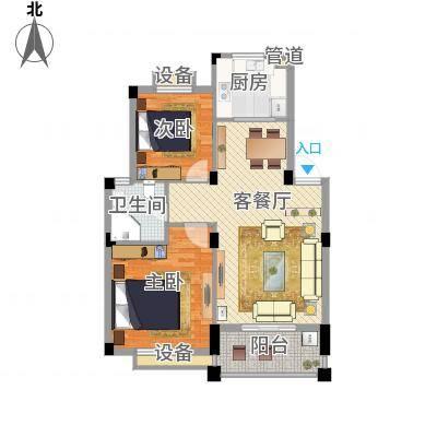 两室两厅一卫—两房朝南(万里阳光水岸89㎡)