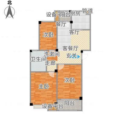 甫澄熙岸89.31㎡1栋、4栋、5栋、8栋、9栋标准层A1户型-副本