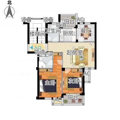 两室两厅两卫—两卧朝南—双阳台(东台