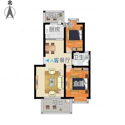 两室两厅一卫—两房朝南—双阳台(新塘家园88.7㎡)
