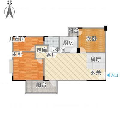 长城里程家园76.02㎡长城里程家园户型图3房2厅1卫76.02-89.86