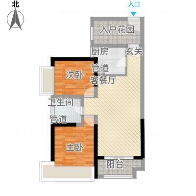 禅城绿地中心86.00㎡禅城绿地中心户型图86㎡户型2室2厅1卫1厨户型2室2厅1卫1厨-副本