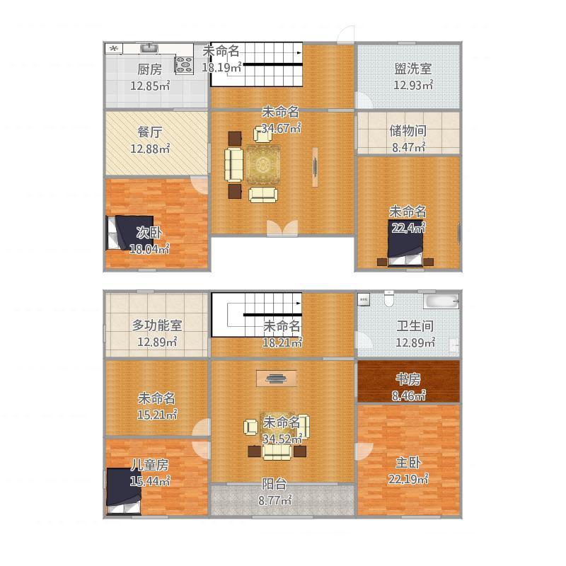小套间夫妻二层楼房设计图