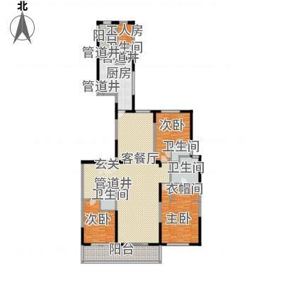 富力城・云栖谷258.00B9楼二单元01户型3室2厅3卫户型3室2厅3卫-副