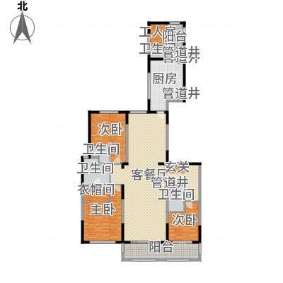 富力城・云栖谷户型图B6、B9楼一单元02户型3室2厅3卫1厨户型3室2