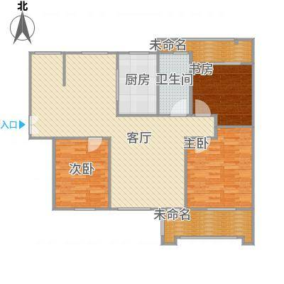 130平三室两厅一厨一卫B户型-副本