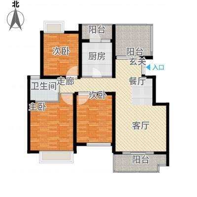 弘阳尊邸116.00㎡1#4#12#B户型3室2厅1卫-副本