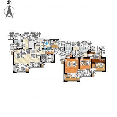 新城香溢澜庭149.00㎡D户型,四房两厅三卫户型4室2厅3卫-副本