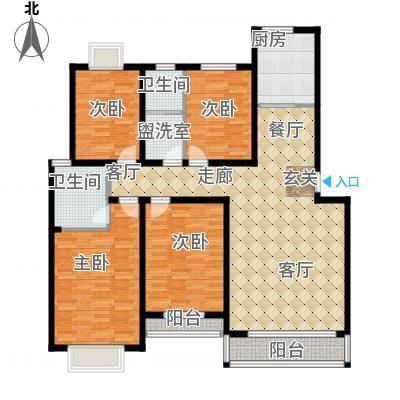 中建绿洲国际花园花园洋房四室两厅两卫3楼户型