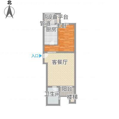 山水LAVIEA2户型1室2厅1卫1厨-副本