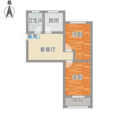 夕照新村56.00㎡户型2室-副本