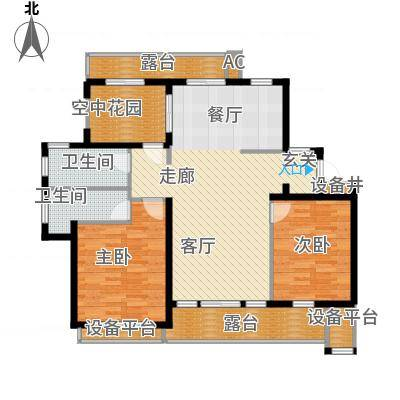 御景山庄紫金园118.46㎡M户型
