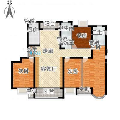 天津保利玫瑰湾160.00㎡标准层G3户型4室2厅-副本