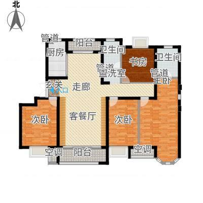 天津保利玫瑰湾160.00㎡标准层G3户型4室2厅-副本-副本