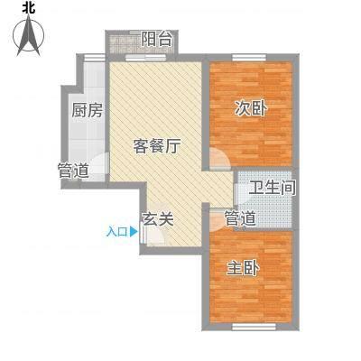 名仕嘉景苑户型2室1厅1卫1厨-副本