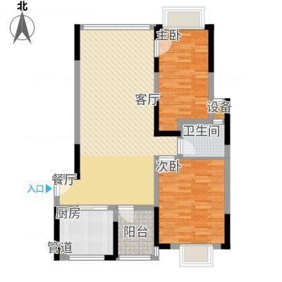 山水花都户型2室1厅1卫1厨-副本