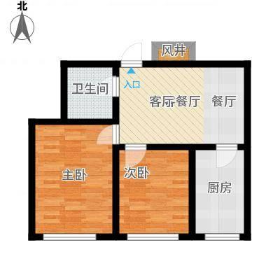 东港国际城64.00㎡2室1厅1卫-副本