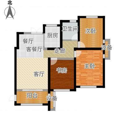 杭州湾世纪城世纪城汀香苑C2-01户型3室1厅1卫1厨-副本