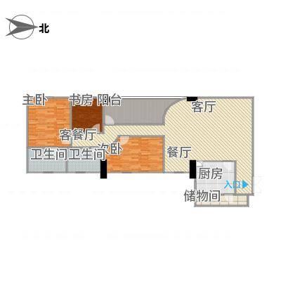 广州_新大厦国际公寓_B原始户型