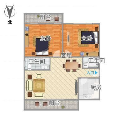 福满山庄99平双阳台两房