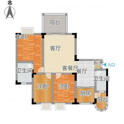 假日滨江花园(二期)114.17㎡房型: 三房; 面积段: 114.17 -152.64 平方米;户