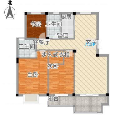 东方巴黎城121.50㎡D4户型2室2厅2卫-副本