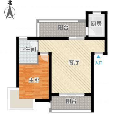 立立依山郡10号楼A栋6-16-2B栋6-16-2C栋6-户型1室1厅1卫1厨-副本