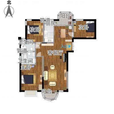 香堤湾146.62㎡香堤湾户型图A户型3室2厅2卫1厨户型3室2厅2卫1厨-副本