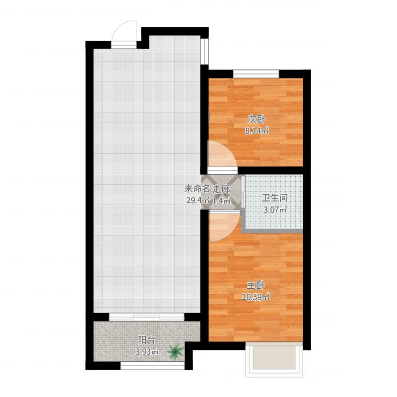 户型设计 胶南-天一畔城-设计方案  山东 青岛 天一畔城 套内面积:55.