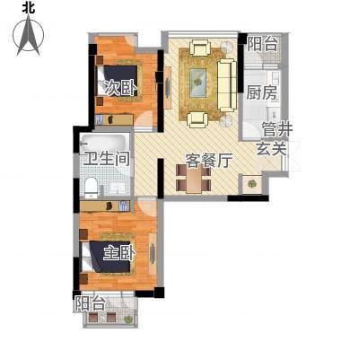 两室一厅一卫—一房朝南(世纪东方商业广场88.60㎡)