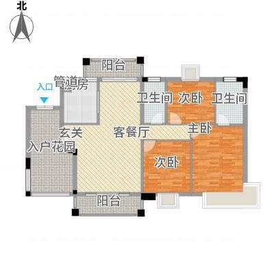 穆天子山庄130.00㎡穆天子山庄户型图半山湾畔3室2厅2卫户型3室2厅2卫-副本