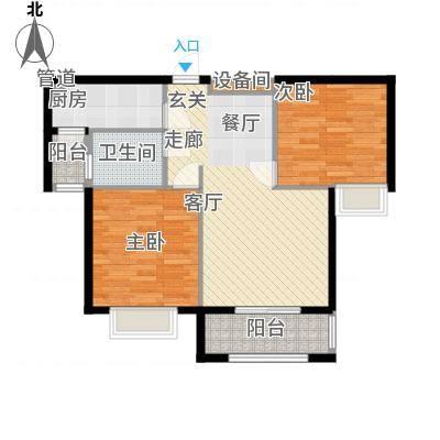 星光银河湾户型图02户型2室2厅82㎡-副本