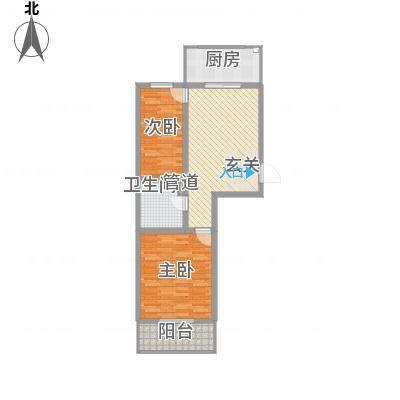 上善水苑83.70㎡户型2室1厅1卫1厨-副本