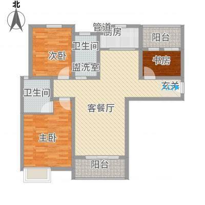 澳林城114.50㎡A户型3室2厅2卫1厨-副本