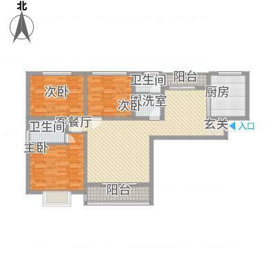 南都秋实苑127.27㎡C3户型3室2厅2卫-副本