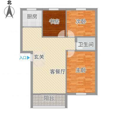 香格里拉东区二户型3室2厅1卫1厨-副本