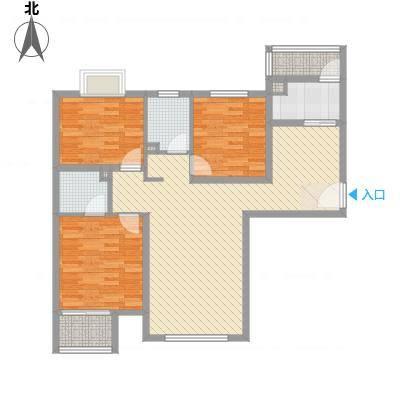 中央名邸126.87㎡(已售罄)3#C2户型3室2厅2卫1厨-副本