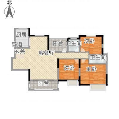 中建・城中壹号公馆143.00㎡一期1号楼标准层J户型3室2厅2卫1厨-副本