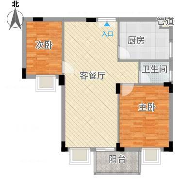 新阳丽舍户型图户型图 2室2厅1卫1厨-副本