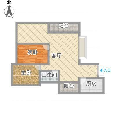 新中源国际商务公寓90.00㎡新中源国际商务公寓户型图A座01、20单元2室2厅1卫1厨户型2室2厅