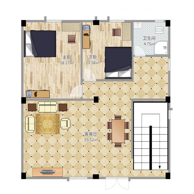 惠州自建房一楼平面图_9.6-10户型图大全,装修户型图