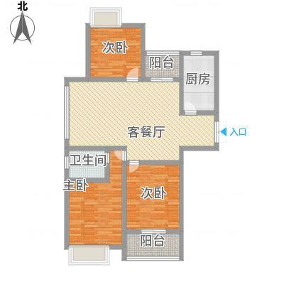 天山花园110.00㎡9号景观楼户型3室2厅1卫1厨-副本