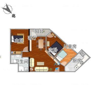 100方3房2厅钻石户型-含家具